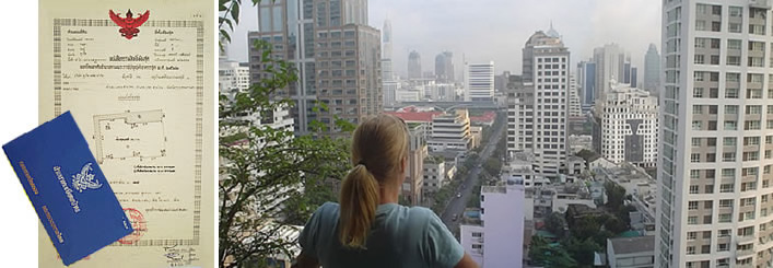 view over bangkok and ownership documents